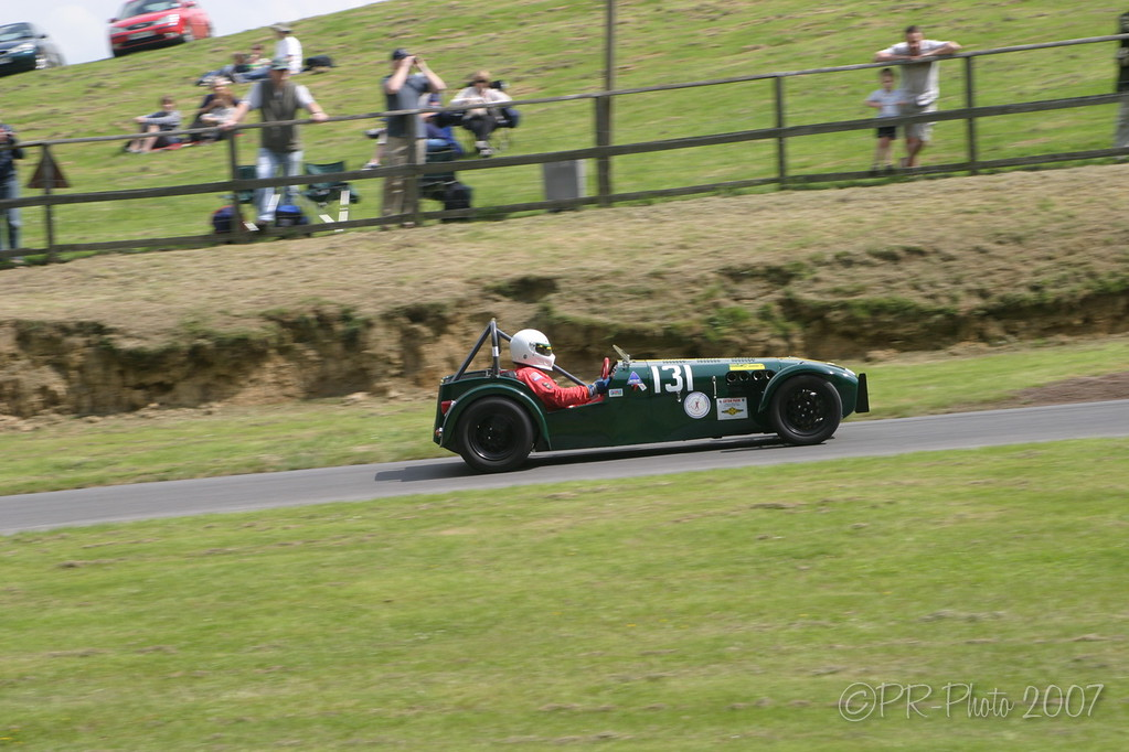 Paul Matty Lotus Challenge at the Club 'La Vie en Bleu' Prescott Hillclimb 26 May 2007