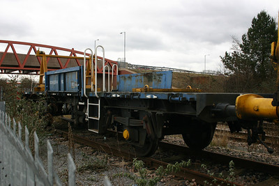 DC460094 is a support vehicle for HOBC/MOBC ballast cleaner wagons, images shot at Taunton Fairwater yard on the 13th Feb 2010