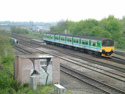 Prototype unit 150001 approaches Smallheath in the suburbs of Birmingham - 22nd April 2005