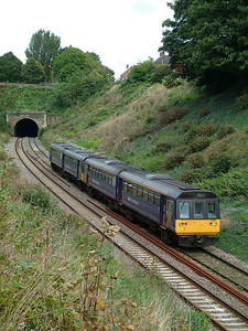 142063 and 142030 approach St James Park halt - 13th September 2008
