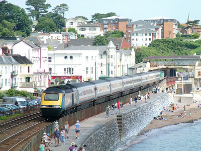 43059 and 43060 pass Dawlish on hire to Virgin Cross Country