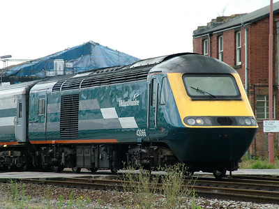 43066 passes Exeter St Davids on hire to Virgin Cross Country