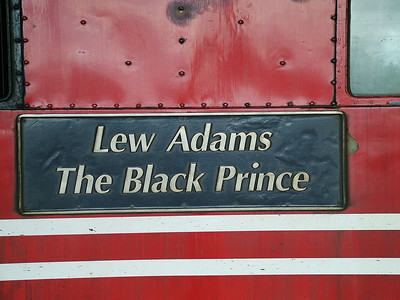 Nameplate from 87022 - 'Lew Adams The Black Prince' - 26th September 2004