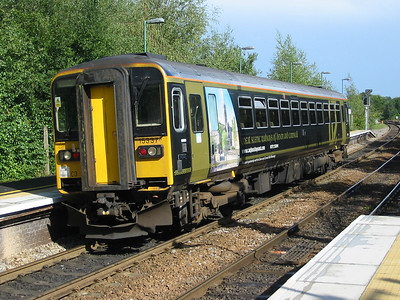 Devon & Cornwall liveried Wessex Trains class 153374 at Romney, 18th August 2004
