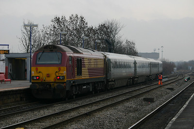 67001 shoves at the rear of a Wrexham & Shropshire train passing South Ruislip