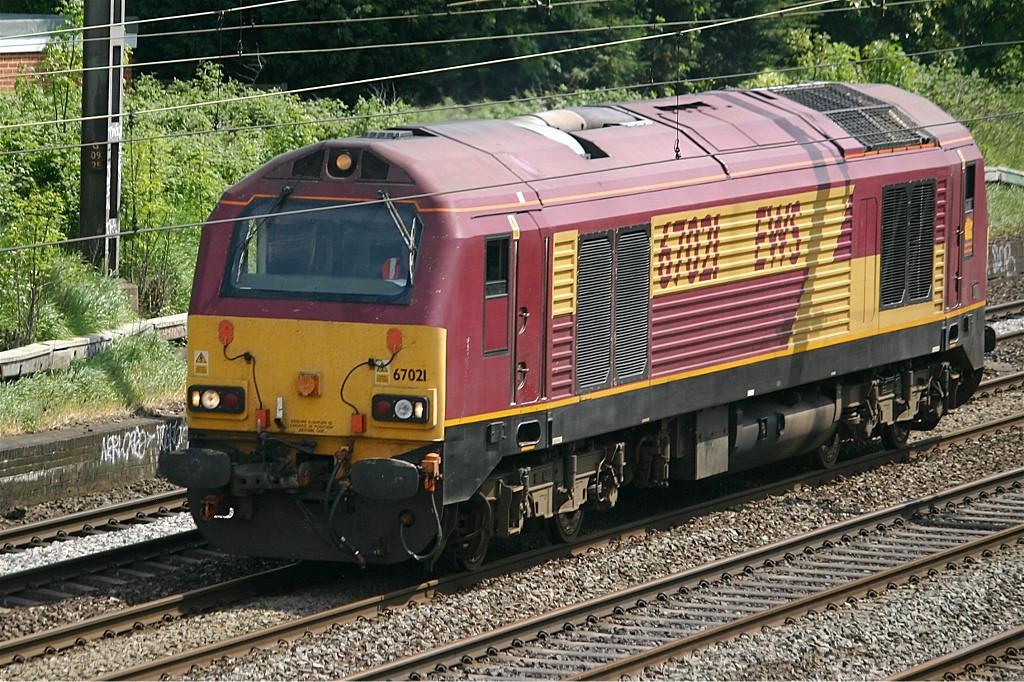 67021 passing South Kenton northbound light engine