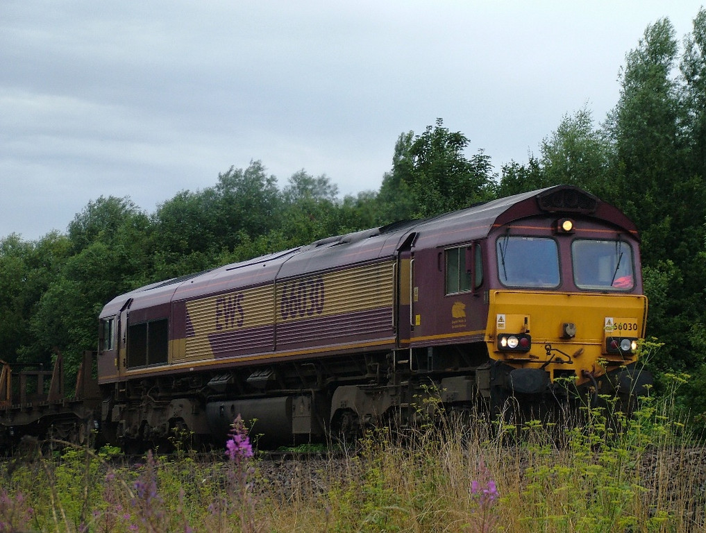 66030 near Tees Yard with steel empties
