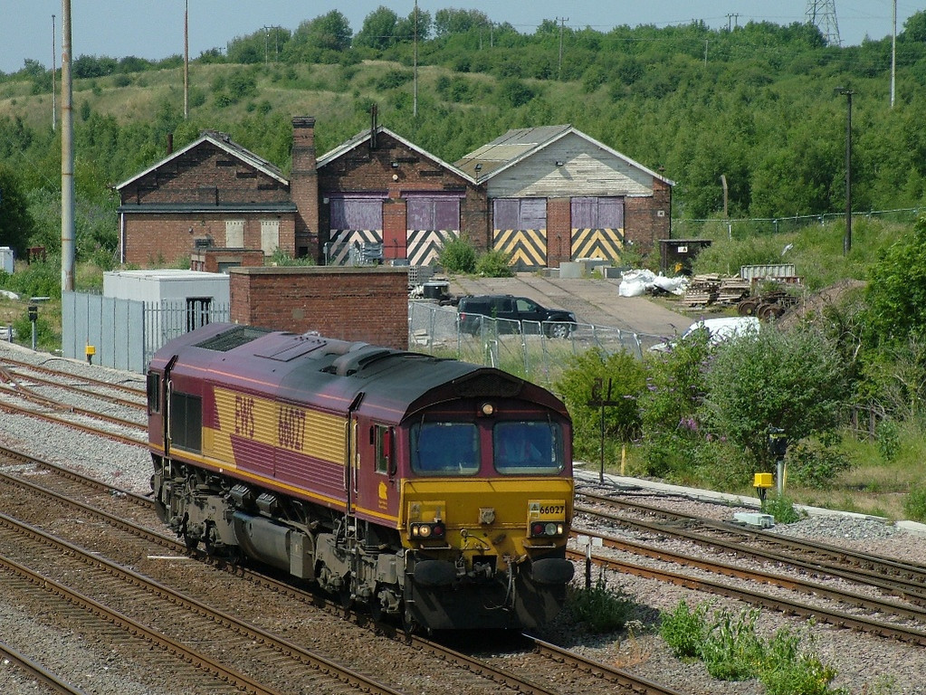 66027 passing Toton South Junction light engine