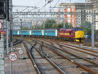 37405 trails an Arriva Trains Northern train to Carlisle out of Leeds