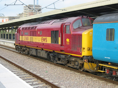 37408 'Loch Rannoch' at Leeds with an Arriva Trains Northern working to Carlisle