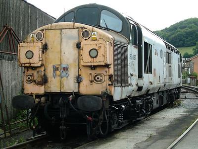 37037 awaits restoration at Buckfastleigh