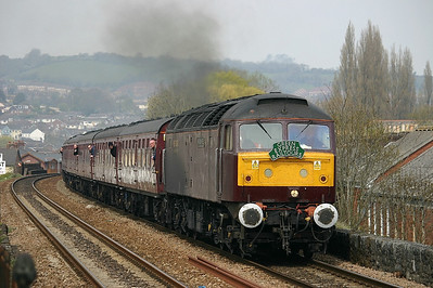 West Coast Railway Co's 47786 heads a charter train through Exeter St Thomas
