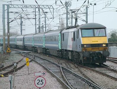 National Express liveried 90003 at Manningtree