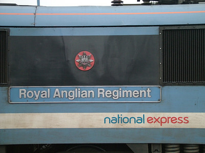Royal Anglian Regiment nameplate on 90012