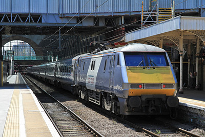 91111 at Kings Cross on 1A22 10.05 ex Leeds - 18/08/12.