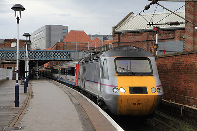 43251 at Doncaster on 1A13 06.55 Skipton-Kings Cross - 18/08/12.