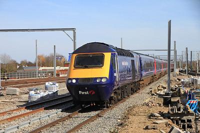 FGW 43164 arr Reading, 1C16 13.22 Paddington-Bristol - 15/03/14.