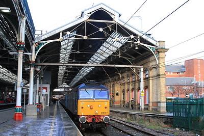 47818, Preston, 5Z12 12.36 ECS to Buckshaw Parkway (forms 2Z12 12.47 Buckshaw Parkway-Manchester Victoria) - 13/12/14.