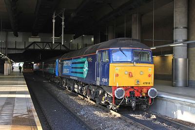 47818, Manchester Victoria, 2Z08 10.45 Additional ex Chorley - 13/12/14.