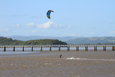 Kite surfer at Arnside - 04/07/15.