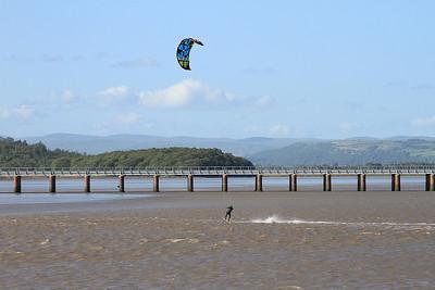 Kite surfer at Arnside - 04/07/15.