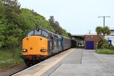 37609 (37402 rear), Barrow, 2C47 17.31 to Carlisle - 12/06/15.