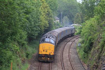 37402 leaving Silverdale, on rear of 2C31 17.31 Lancaster-Barrow - 13/06/15.