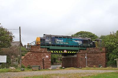 37423 dep Ravenglass, 2C49 11.38 Barrow-Carlisle - 19/06/15.