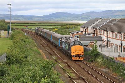 37409 (37419 rear) arr Millom, 2C41 14.37 Barrow-Carlisle - 19/06/15.