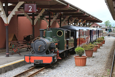 Out of ticket 'Bonnie Dundee' on display in Ravenglass Station - 19/06/15.
