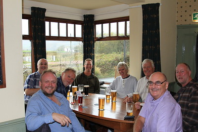 Refreshments being taken in the Prince of Wales, Foxfield - 07/11/15.