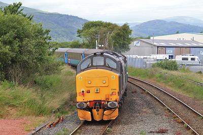 37409 dep Foxfield, on rear of 2C45 11.38 Barrow-Carlisle - 11/07/15.