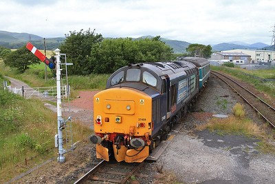 37409 dep Foxfield, on rear of 2C45 11.38 Barrow-Carlisle - 11/07/15.