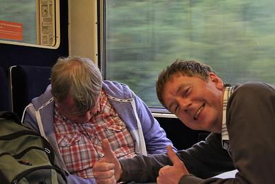 Graham enjoying John's company on the way back - 11/07/15.