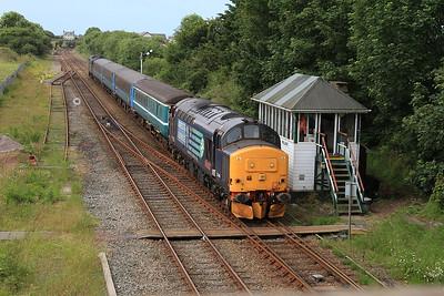 37409 (37218 rear) arr Millom, , 2C40 08.42 Carlisle-Barrow - 11/07/15.