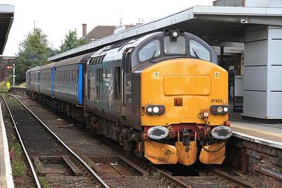 37423 (37409 rear), Barrow, 2C47 10.04 ex Preston - 31/07/15.