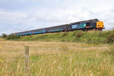 37610 dep Ravenglass, on rear of 2C49 11.38 Barrow-Carlisle - 31/07/15.