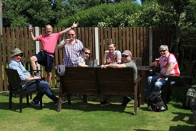 Roadshow in the beergarden at the Miners Arms, Silecroft - 08/08/15.
