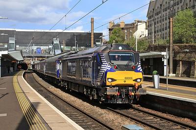 68006 dep Haymarket, 2G13 17.08 Edinburgh-Glenrothes with Thornton - 11/05/15.