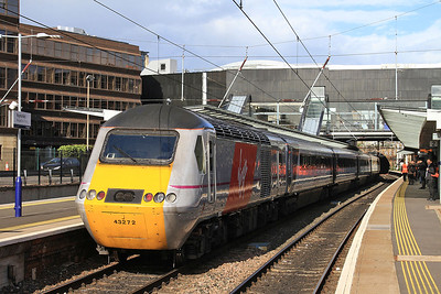 43272 dep Haymarket, on rear of 1E25 14.52 Aberdeen-Kings Cross - 11/05/15.