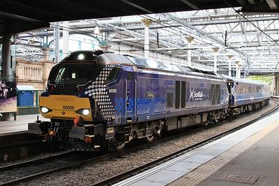 68006, Edinburgh Waverley, 2K14 18.14 ex Glenrothes with Thornton - 11/05/15.