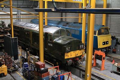 D6700 & D1013 inside the workshop at York Museum - 23/05/15.