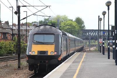 43465 dep York, on rear of 1A65 12.18 Sunderland-Kings Cross - 23/05/15.