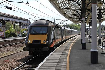 43423 (43468 rear) arr York, 1N93 13.20 Kings Cross-Sunderland - 23/05/15.