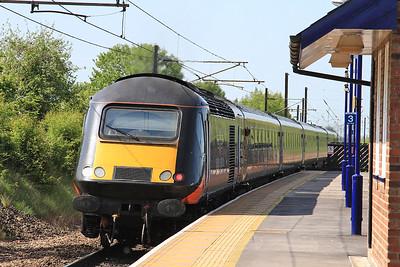 43468 dep Thirsk on rear of 1N93 13.20 Kings Cross-Sunderland - 23/05/15.