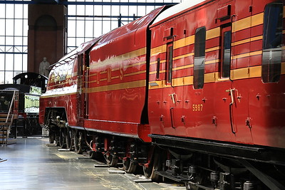 46229 'Duchess of Hamilton' looking magnificent inside York Museum - 23/05/15.