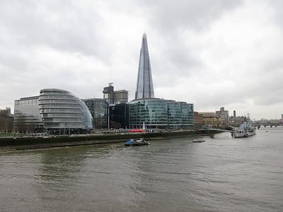London Skyline including 'The Shard' - 18/12/15.
