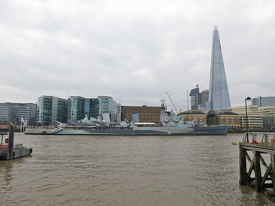 HMS Belfast & 'The Shard' - 14/12/15.