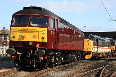 47802 / 37518 in the yard outside the diesel depot - 15/07/15.