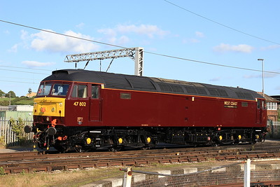 ex-works 47802 in the yard outside the diesel depot - 15/07/15.